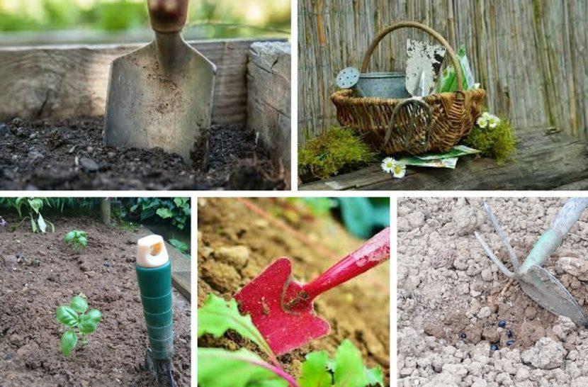 orodja na vrtu