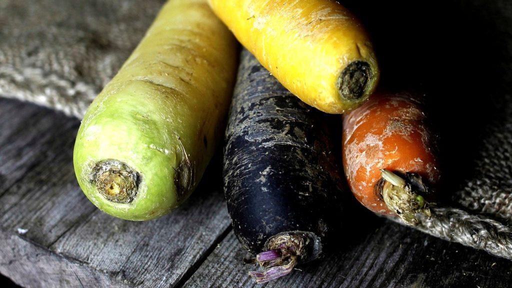 Le carote in origine erano di colore scuro, in genere viola.