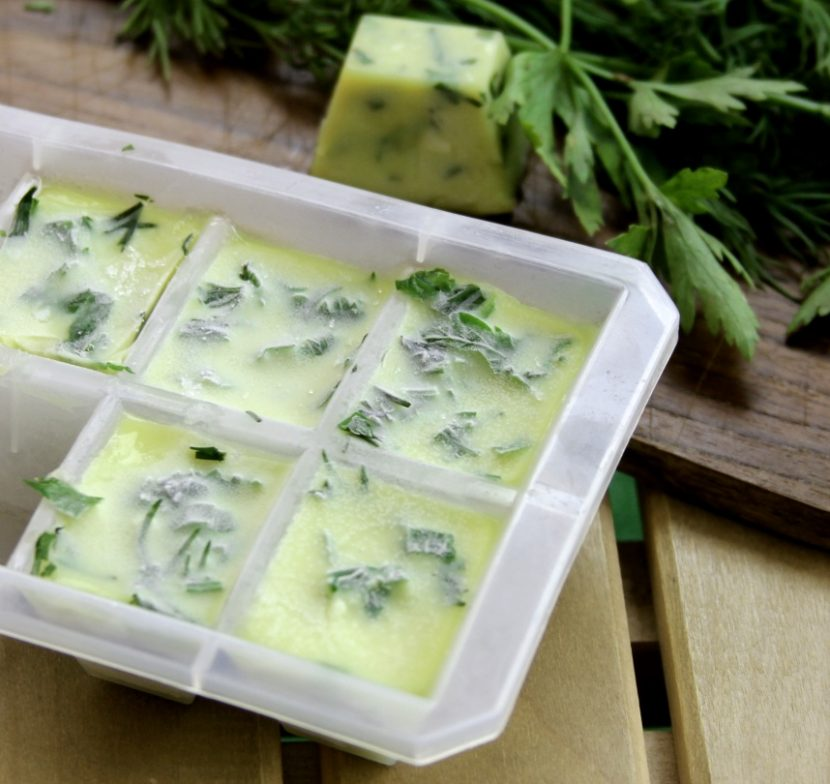 Fresh Herb Cubes in Olive Oil